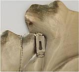 Настенный декор Листья Гинкго W3 см, L74 см алюминий золото, фото 5