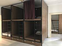 Кровать металлическая для хостела двухярусная К-5