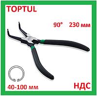 Щипцы для снятия стопорных колец, внутренних, кольцесъемник, съемник, клещи, плоскогубцы, Toptul DCAC1209