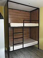 Кровать металлическая для хостела двухярусная К-1
