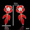 Серьги  цветок, позолота