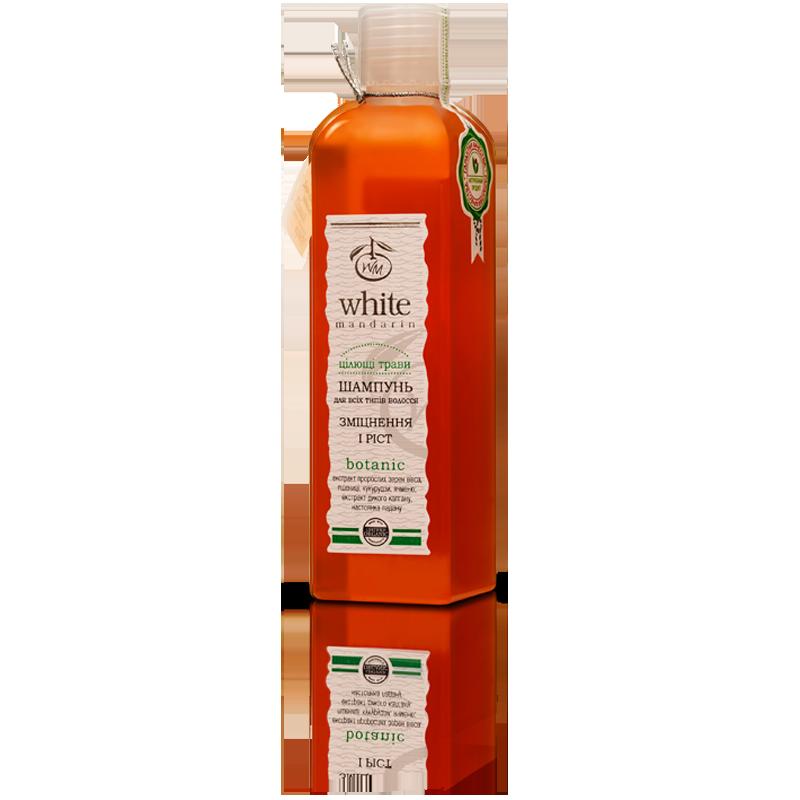 Органический шампунь против выпадения волос с диким калганом и алоэ White Mandarin, 250 мл