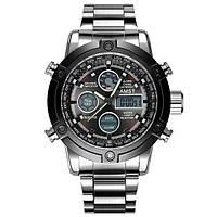 Часы Мужские AMST 3022 Metall Silver-Black, Военные, Армейские, тактические, Стальной браслет