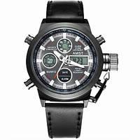 Часы Мужские AMST 3003A All Black, Военные, Армейские, тактические, Черный ремешок