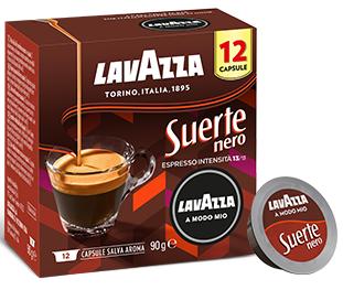 Кофе в капсулах Lavazza A Modo Mio Suerte NERO (Int = 13; 12 капсул; Espresso;)