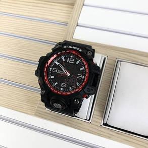 Часы Мужские CAS** GG-1000 (касио джи-шок) Черный ремешок, черно-красный цф, Спортивные, фото 2