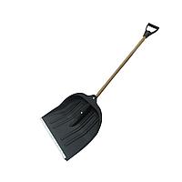 Лопата пластик для снега АВС черная с ручкой и черенком