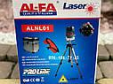 Лазерный уровень AlFa ALNL01 красный луч нивелир 5 линий, фото 6