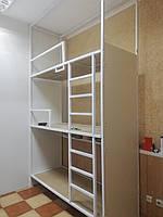 Кровать металическая для хостела трехярусная К-4, фото 1