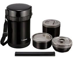 Набір для ланчу Zojirushi SL-GH18BA (3 контейнера + палички), чорний