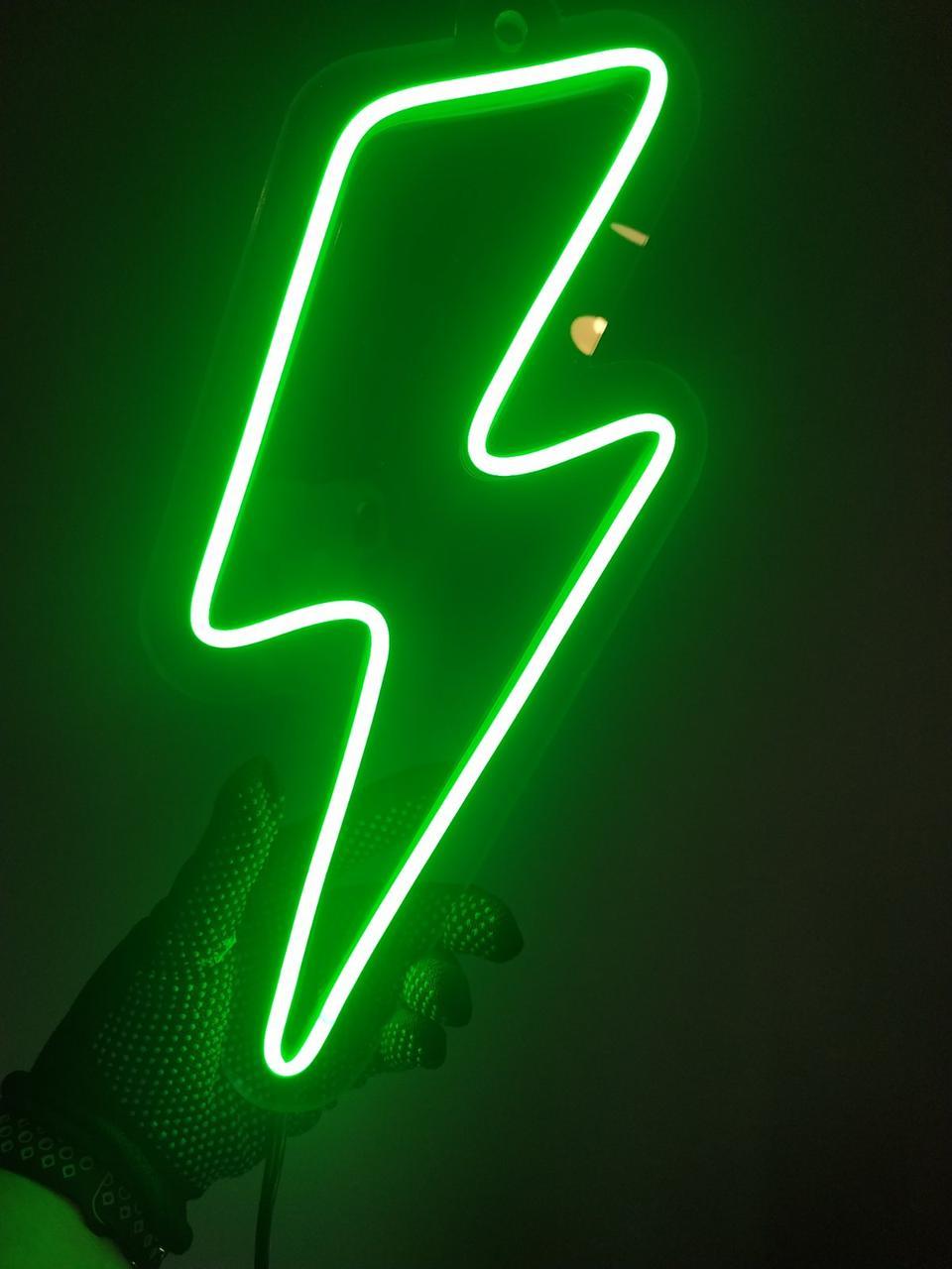 Неоновый логотип LIGHTNING 25х30см