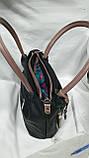 Качественные женские сумки Премиум Класса 2отд (ЧЕРНЫЙ)30*27см, фото 5