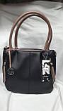 Качественные женские сумки Премиум Класса 2отд (ЧЕРНЫЙ)30*27см, фото 4