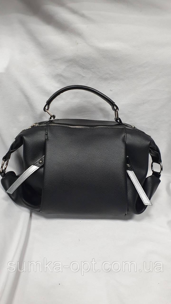 Качественные женские сумки Премиум Класса 2отд (ЧЕРНЫЙ)28*20см