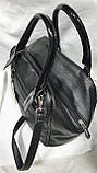 Замшевые комбинированные сумки Китай (ЧЕРНЫЙ ЗАМША)30*24см, фото 3
