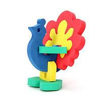 "Мягкий 3D конструктор ""Павлин"", Бомик, пазл для малышей,детские пазлы,пазл,пазлы для детей"