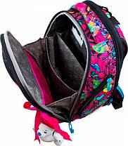 Школьный ранец в 1-4 класс рюкзак для девочки в наборе сменка и пенал Попугайчики DeLune 10-004, фото 3