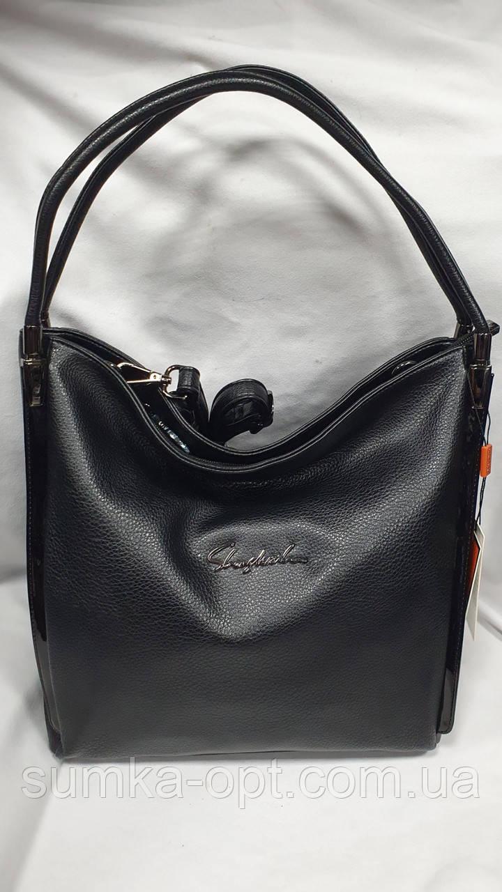 Качественные женские сумки Премиум Класса 2отд (ЧЕРНЫЙ)34*30см