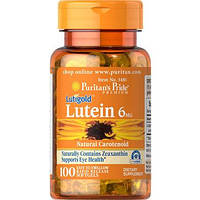 Лютеин Puritan's Pride Lutein 6 mg with Zeaxanthin 100 softgel Лютеїн