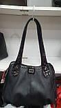 Качественные женские сумки Премиум Класса 2отд (ЧЕРНЫЙ)35*30см, фото 3