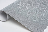 Картон с глиттером (блестками), серебро