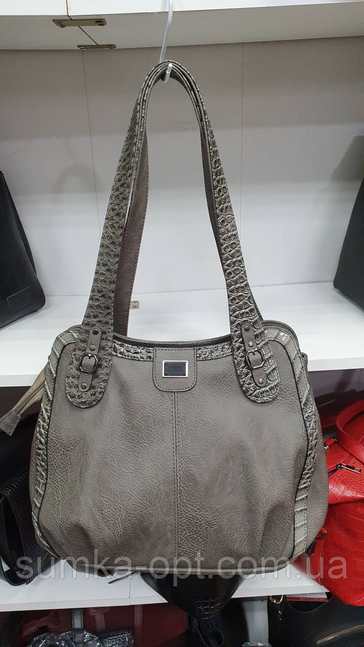 Качественные женские сумки Премиум Класса 2отд (СЕРЫЙ)35*30см
