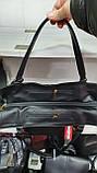 Качественные женские сумки Премиум Класса 2отд (ЧЕРНЫЙ КМБИНИРОВАН)38*29см, фото 4