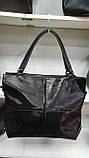 Качественные женские сумки Премиум Класса 2отд (ЧЕРНЫЙ КМБИНИРОВАН)38*29см, фото 2