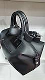 Качественные женские сумки Премиум Класса 2отд (ЧЕРНЫЙ+КРАСН)36*22см, фото 3