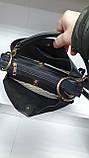 Замшевые сумки Китай (ЧЕРНЫЙ ЗАМША)25*18см, фото 3