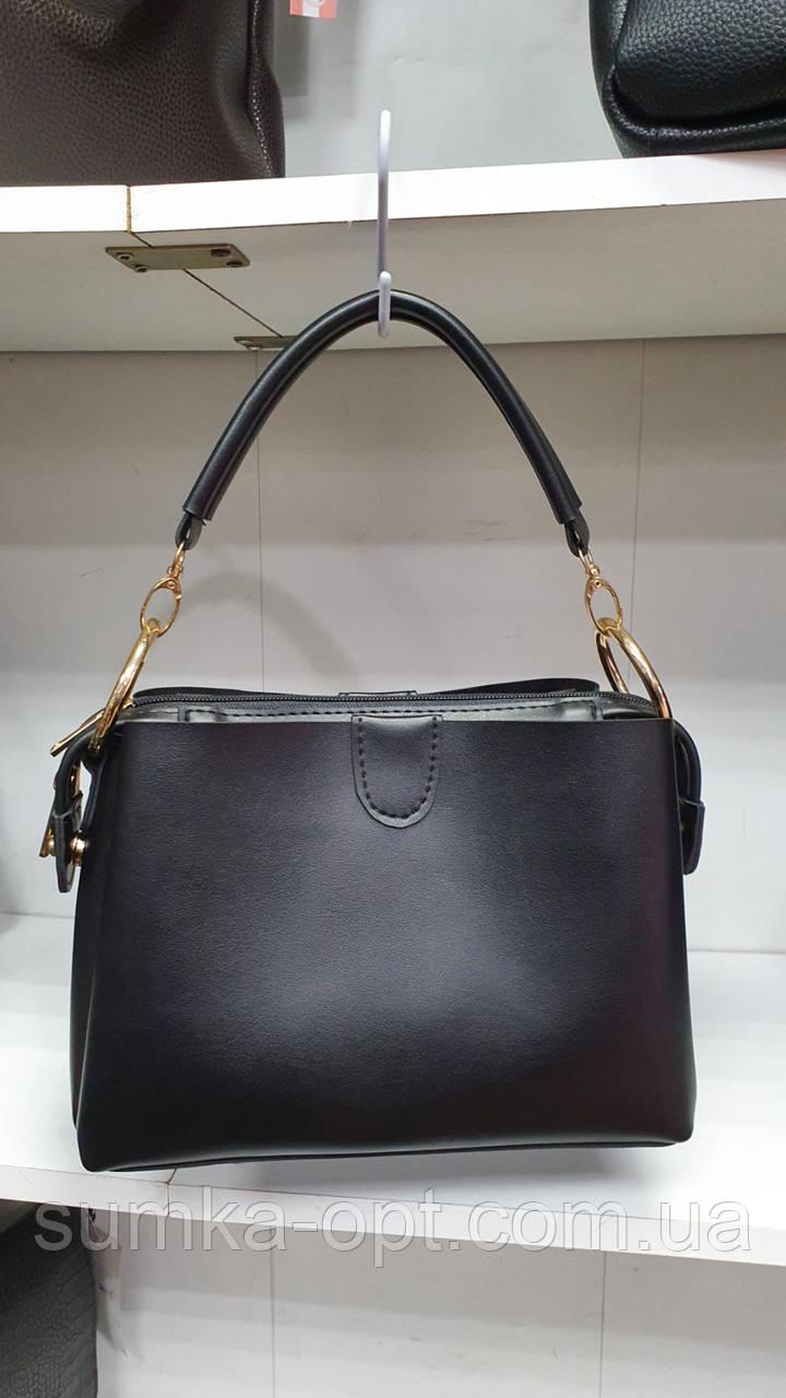 Качественные женские сумки Премиум Класса 2отд (ЧЕРНЫЙ)25*18см