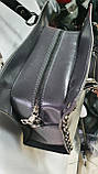 Брендовые сумки МК (ЧЕРНЫЙ ЗАМША)30х20см, фото 3
