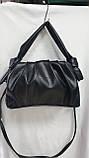 Женские стильные сумки (В ЧЕРНОМ БЛЕСТКИ)25*25см, фото 3