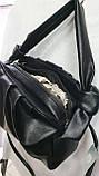 Женские стильные сумки (В ЧЕРНОМ БЛЕСТКИ)25*25см, фото 2