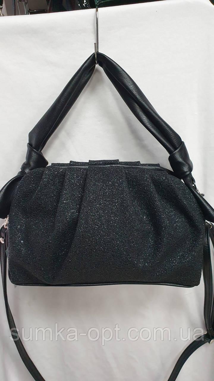 Женские стильные сумки (В ЧЕРНОМ БЛЕСТКИ)25*25см