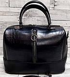 Женские стильные сумки (В ЧЕРНОМ)24*19см, фото 4