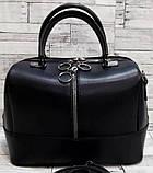 Женские стильные сумки (В ЧЕРНОМ КРОКОДИЛ)24*19см, фото 2