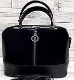 Женские стильные сумки (В ЧЕРНОМ КРОКОДИЛ)24*19см, фото 3