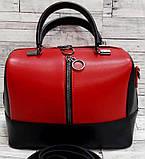 Женские стильные сумки (В ЧЕРНОМ КРОКОДИЛ)24*19см, фото 4