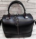 Женские стильные сумки (В ЧЕРНОМ КРОКОДИЛ)24*19см, фото 6
