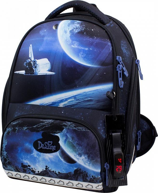 Школьный рюкзак для мальчика в 1-4 класс набор ранец пенал и сменка DeLune 10-008