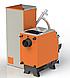 Твердотопливный котел КВУ Pellets 50 кВт с пеллетной факельной горелкой OXI и бункером для горючего, фото 2