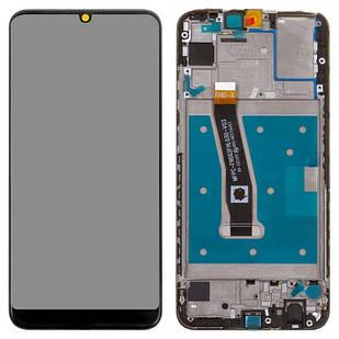 Модуль Huawei P Smart 2019 черный с рамкой Original