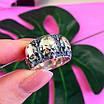 Серебряное кольцо Череп - Кольцо с черепом серебро - Байкерское кольцо Черепа серебро, фото 8