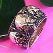 Серебряное кольцо Череп - Кольцо с черепом серебро - Байкерское кольцо Черепа серебро, фото 5