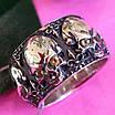 Серебряное кольцо Череп - Кольцо с черепом серебро - Байкерское кольцо Черепа серебро, фото 4