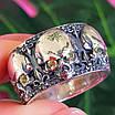 Серебряное кольцо Череп - Кольцо с черепом серебро - Байкерское кольцо Черепа серебро, фото 3