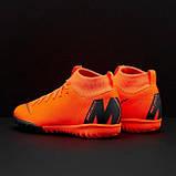 Детская футбольная обувь (сороконожки) Nike MercurialX SuperflyX 6 Academy GS TF, фото 4