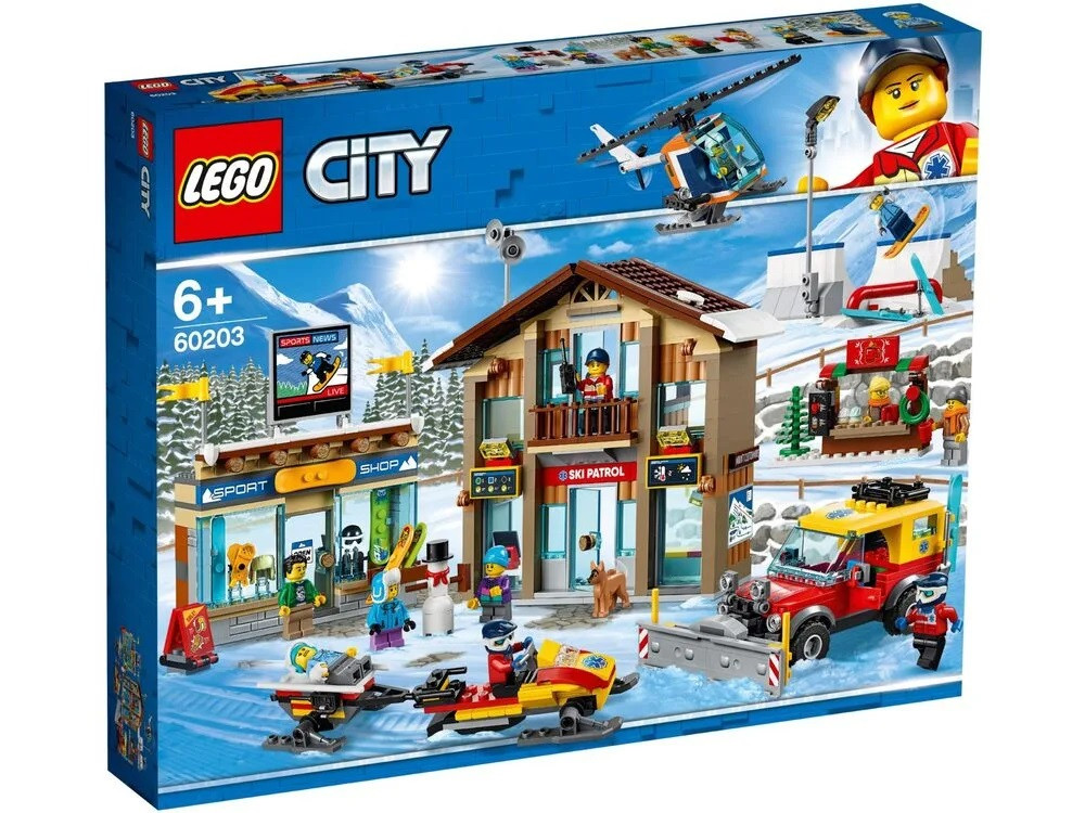Lego City - Горнолыжный курорт (Ski Resort, 806 дет), 6+ (60203)