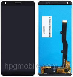 Дисплей для ZTE Blade A530, A606, модуль в сборе (экран и сенсор), черный, оригинал